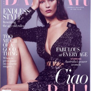Harpers Bazaar Australia Magazine Issue AUG 16